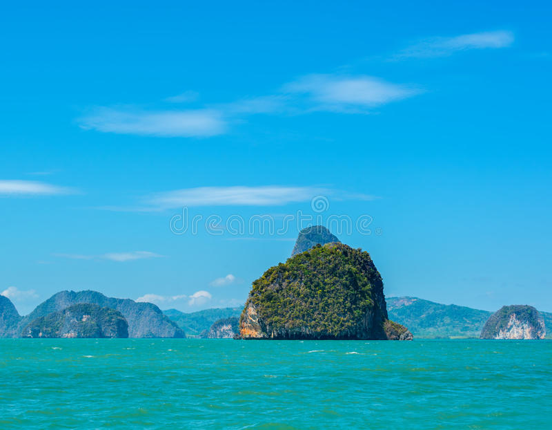 Seelandschaft in Thailand stockfotografie