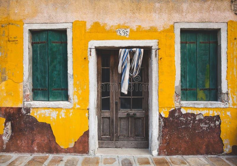 Seele von Italien, Burano, Venetien, Venedig lizenzfreie stockfotografie