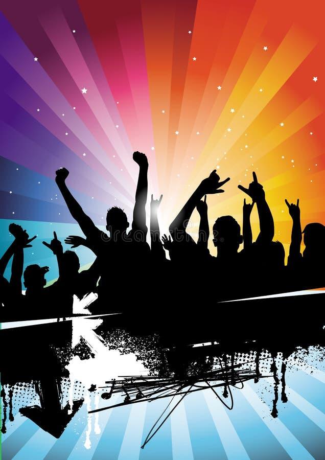 Seelen-Party-Masse stock abbildung