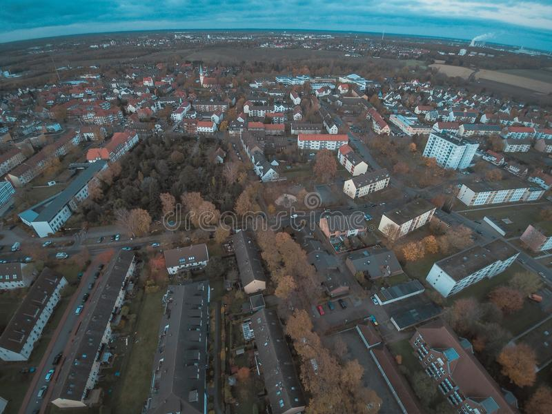 Seelze. City high angle view in Lower Saxony, Germany stock photography