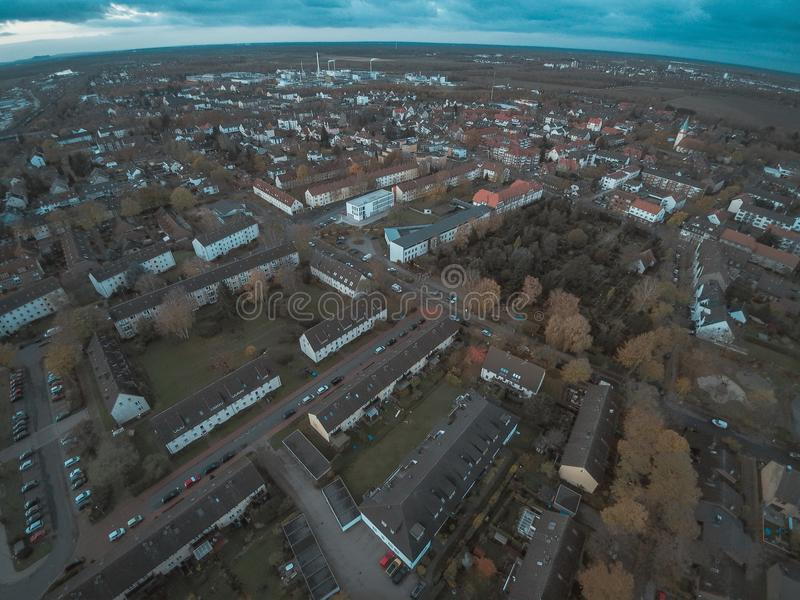 Seelze. City high angle view in Lower Saxony, Germany royalty free stock image