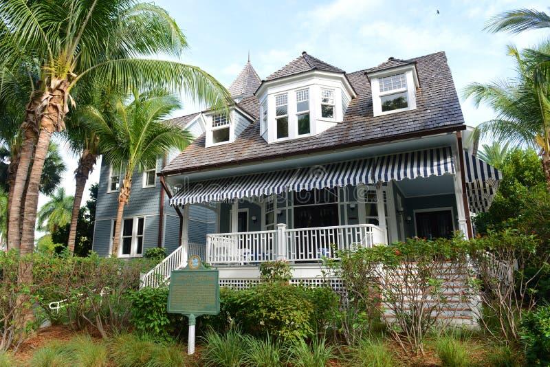 Seemöwe-Häuschen, Palm Beach, Florida stockbild