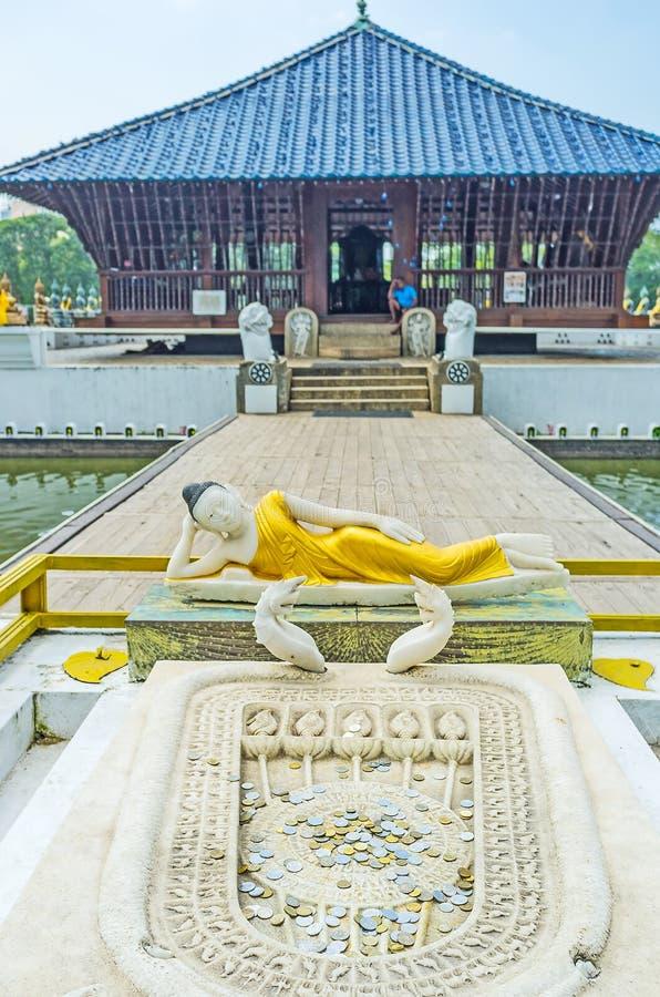 Seema Malaka寺庙在科伦坡 图库摄影