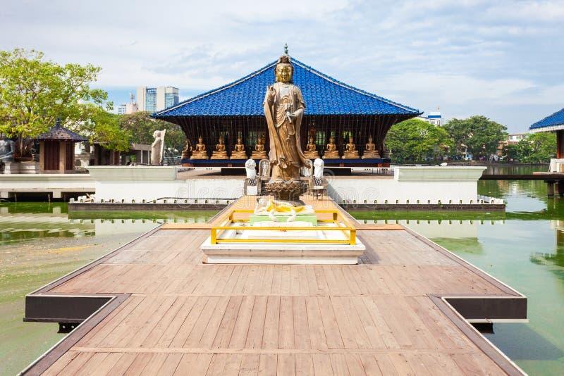 Seema Malaka Gangaramaya寺庙 库存照片