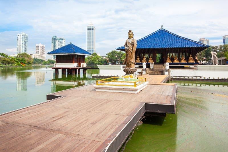 Seema Malaka Gangaramaya寺庙 库存图片