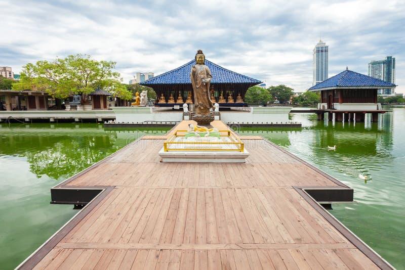 Seema Malaka Gangaramaya寺庙 免版税库存图片