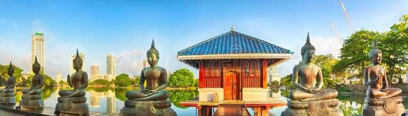 Seema Malaka tempel panorama royaltyfria foton
