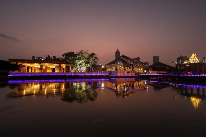 Seema Malaka Temple de Colombo dans Sri Lanka images libres de droits