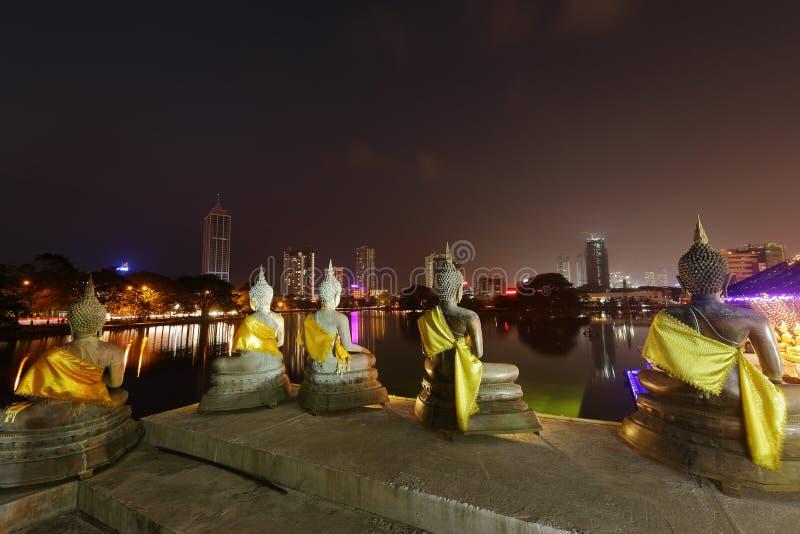 Seema Malaka Temple de Colombo dans Sri Lanka photographie stock libre de droits