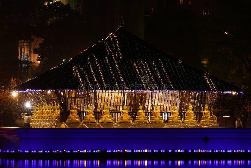Seema Malaka Temple van Colombo in Sri Lanka stock fotografie