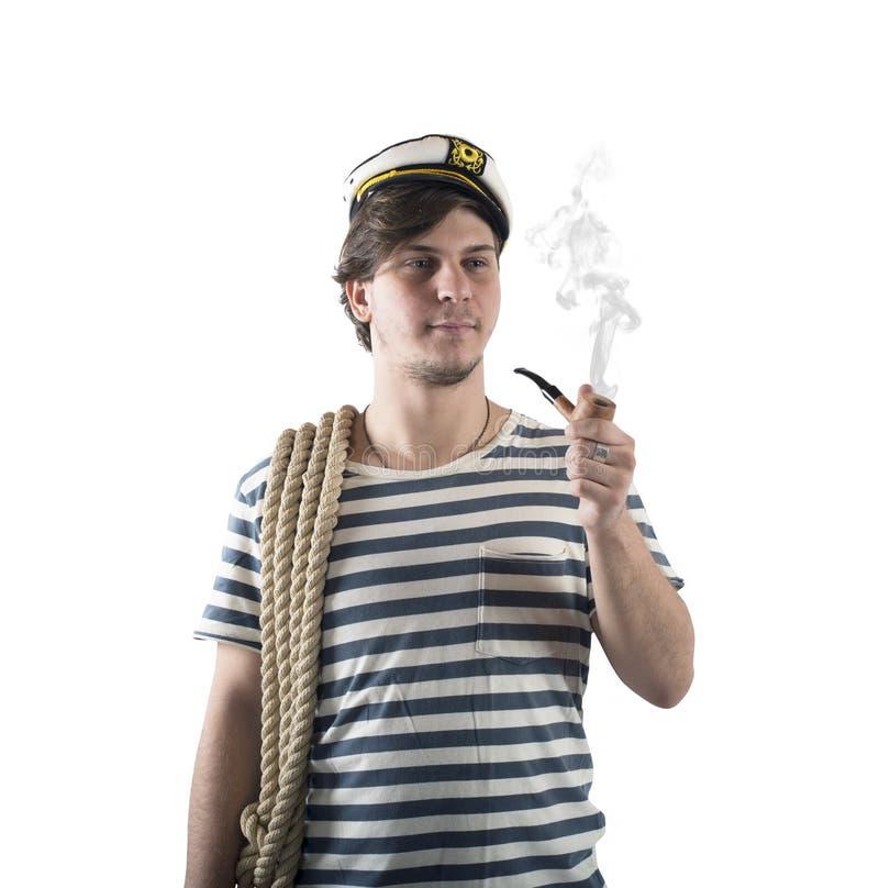 Seemann raucht stockfoto