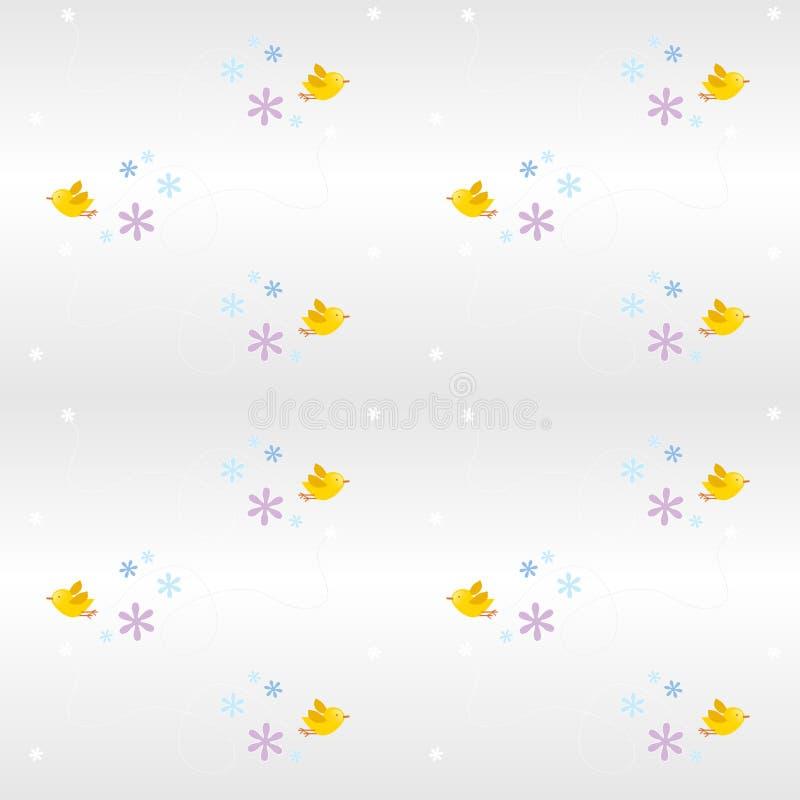 seemless pattern- bird royalty free illustration