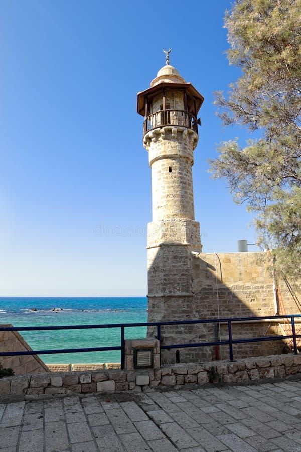 Seemoschee im alten Jaffa lizenzfreie stockfotografie