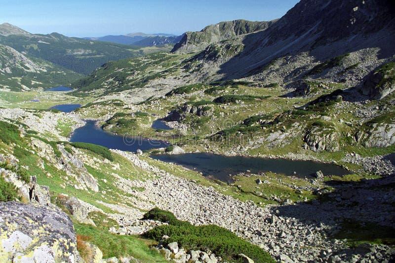Seen auf Nationalpark Retezat stockbilder