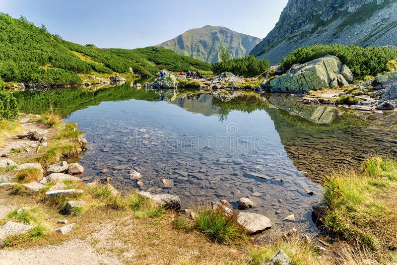 Seen Rohacske-pleso in West-Tatras, Slowakei lizenzfreies stockbild