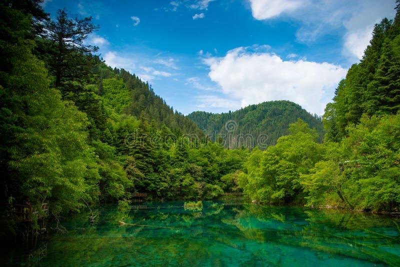 Seen von Jiuzhaiguo lizenzfreie stockbilder