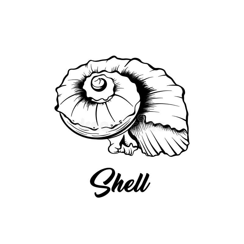 Seeoberteilschwarz-Tintenillustration lizenzfreie abbildung