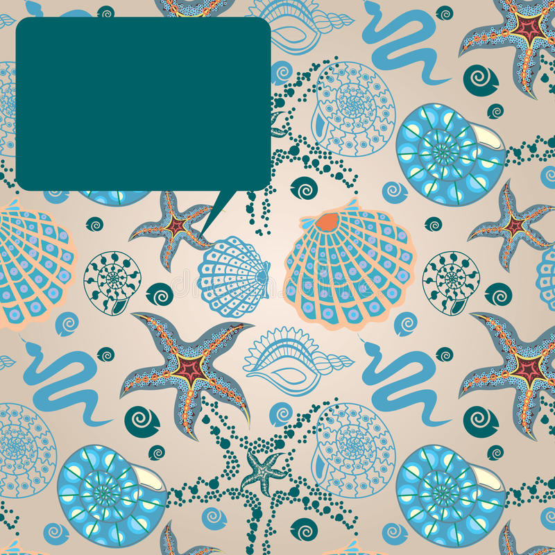 Seeparadies-Meldungkarte vektor abbildung
