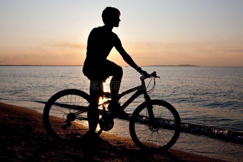 Seeradfahrer lizenzfreies stockbild