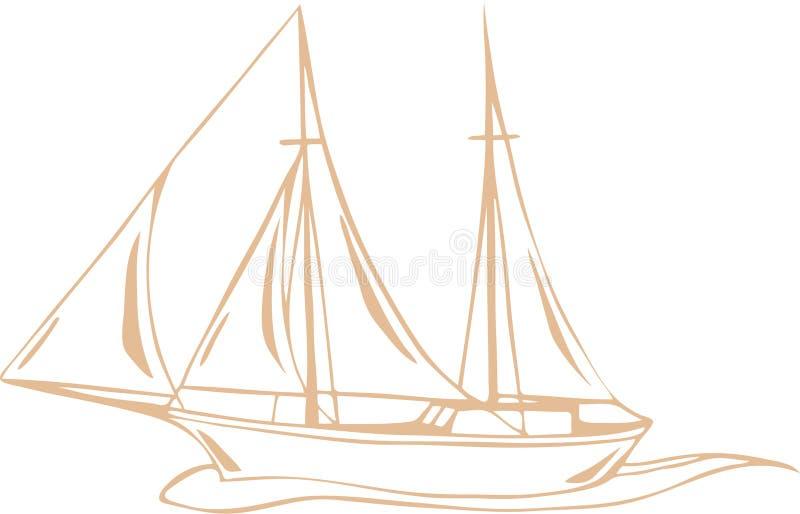 Seereisevektor stock abbildung