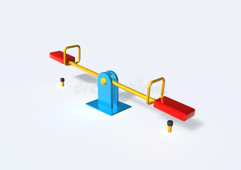 Download Seesaw stock illustration. Image of totter, teeterboard - 12174331