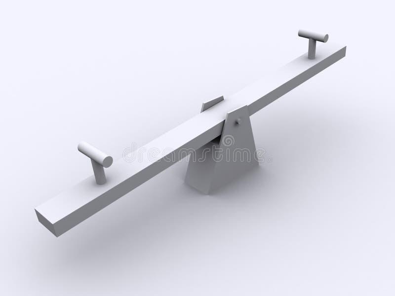 seesaw vektor illustrationer