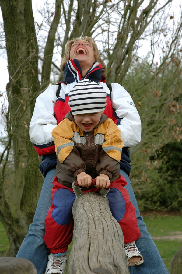 On the seesaw royalty free stock image