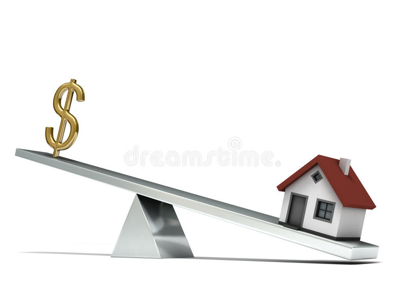 Download Seesaw Dollar House Royalty Free Stock Image - Image: 11713206