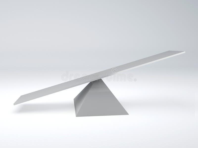 seesaw framförd begreppsbild för jämvikt 3d royaltyfri illustrationer