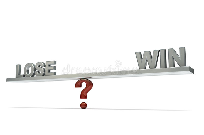 Download Seesaw Lose Win Royalty Free Stock Photo - Image: 12235775