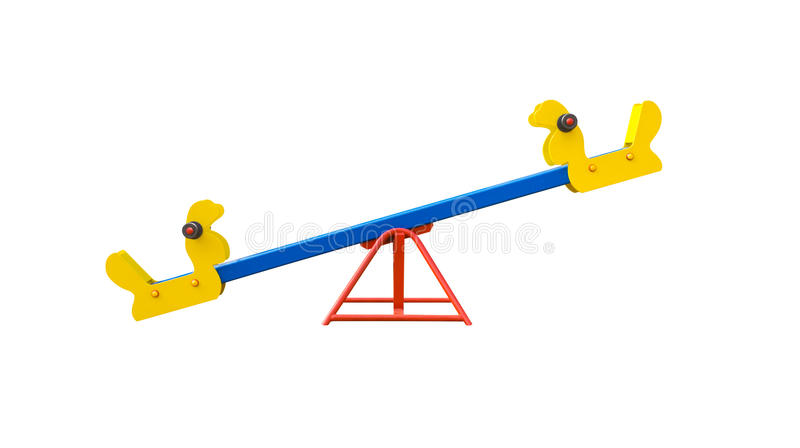Seesaw for playground royalty free stock photo