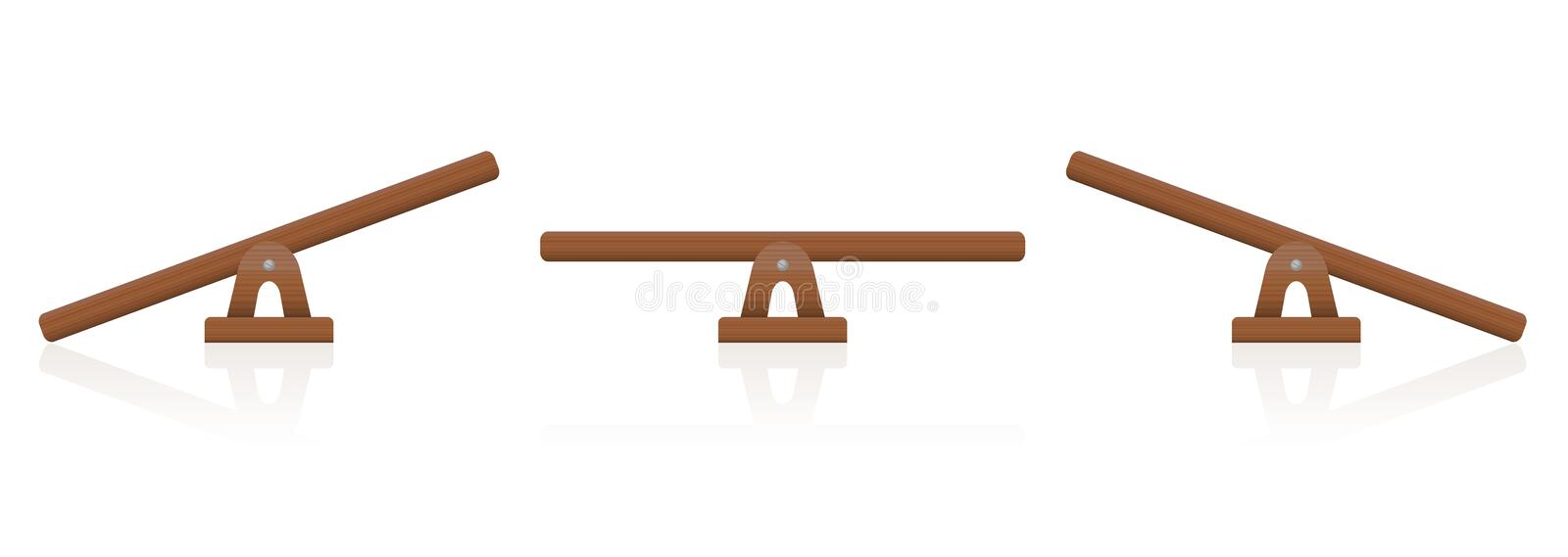 Seesaw Wooden Balance Scale vector illustration