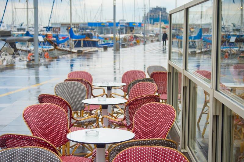 Seeseiterestaurant Limassol-Jachthafen Zypern lizenzfreie stockfotografie