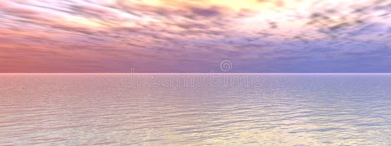 Seesonnenuntergang stock abbildung