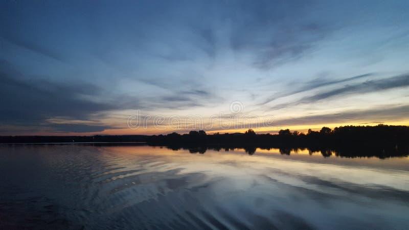 Seesonnenuntergang stockbild