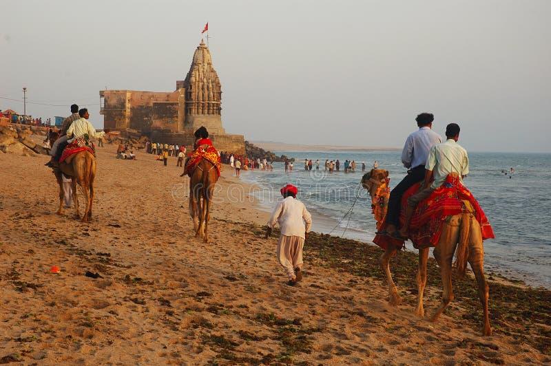 Seestrand von Gujarat lizenzfreies stockfoto