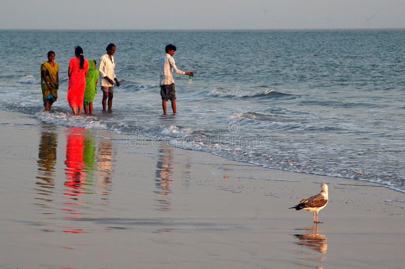 Seestrand von Indien stockfotografie