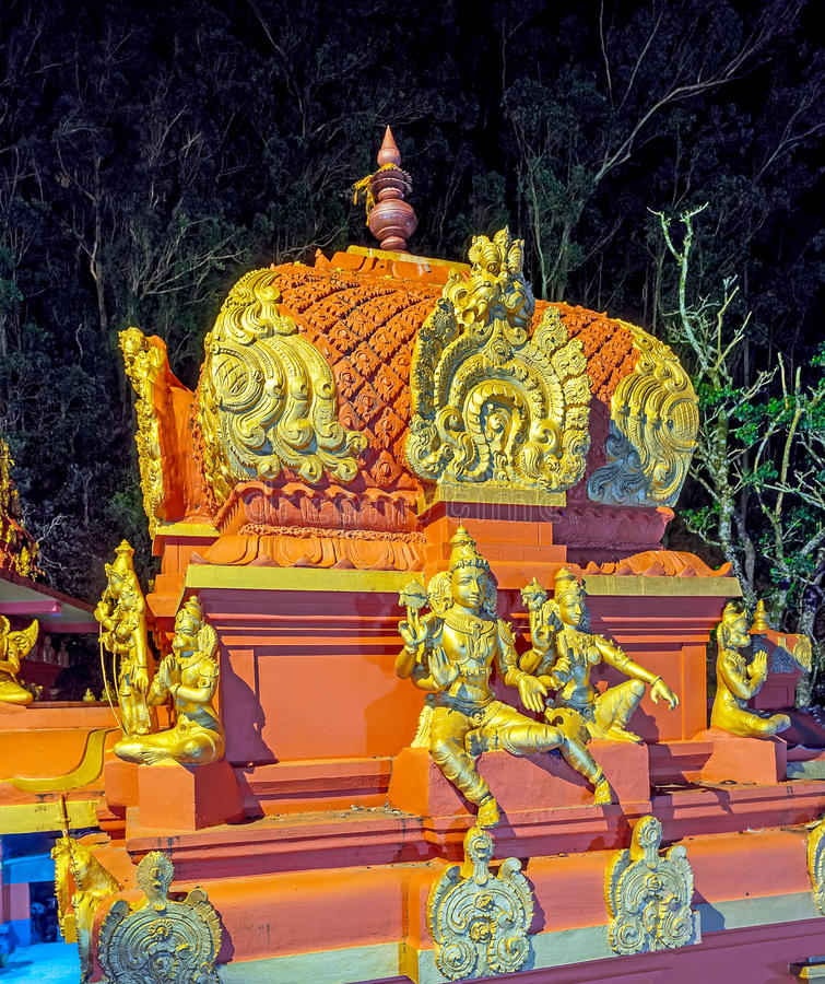 Seetha阿曼寺庙Vimana塔  免版税库存照片