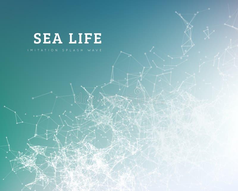 Seewelle durch Punkt und Linie Verbindung lizenzfreie abbildung