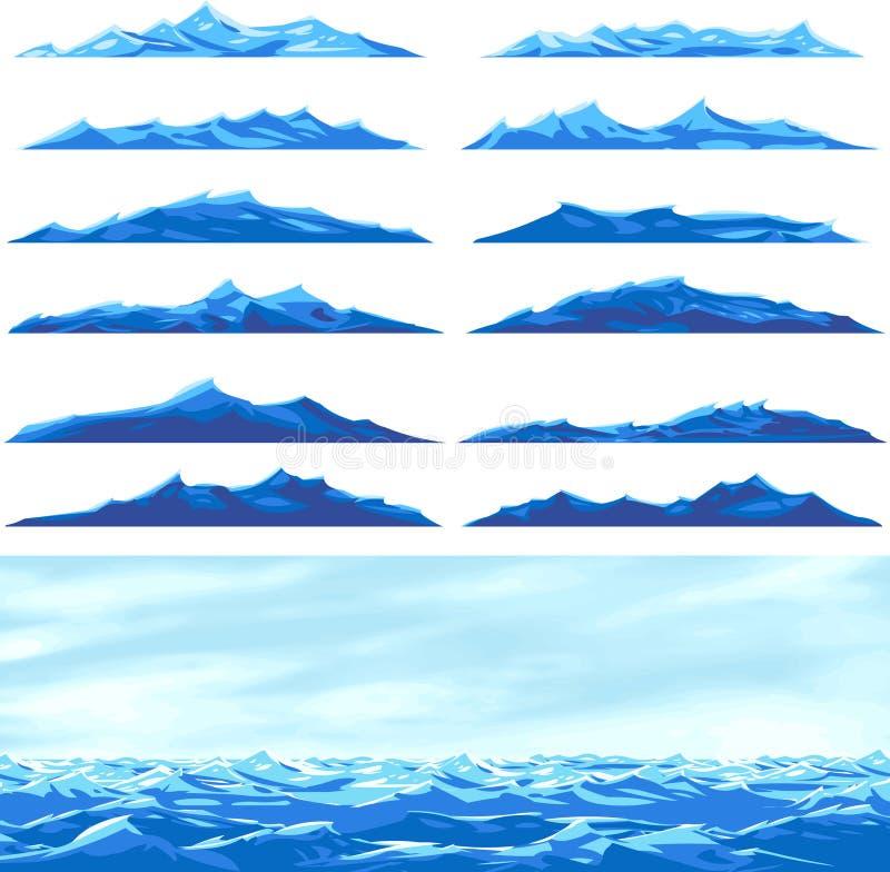 Seewellen stock abbildung