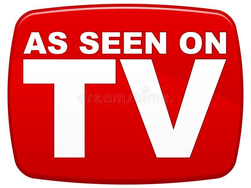 Según lo visto en la TV stock de ilustración