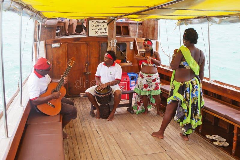Sega dansent, île des Îles Maurice photos libres de droits