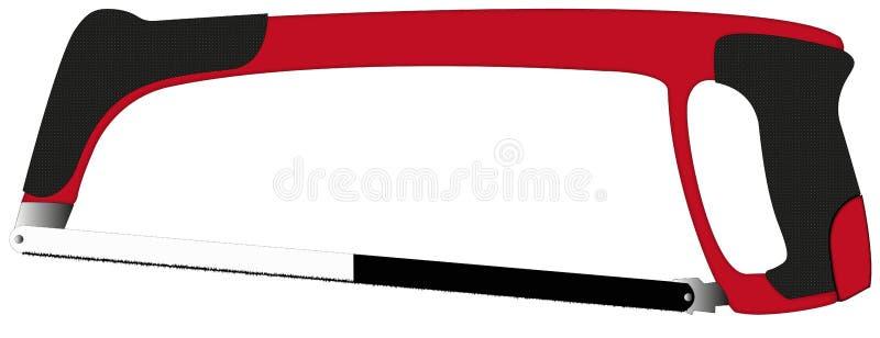 Sega professionale rossa del ferro con le maniglie di cuoio immagini stock libere da diritti