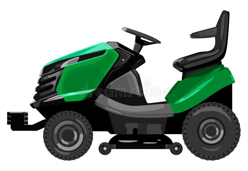 Segadeira de gramado verde ilustração do vetor