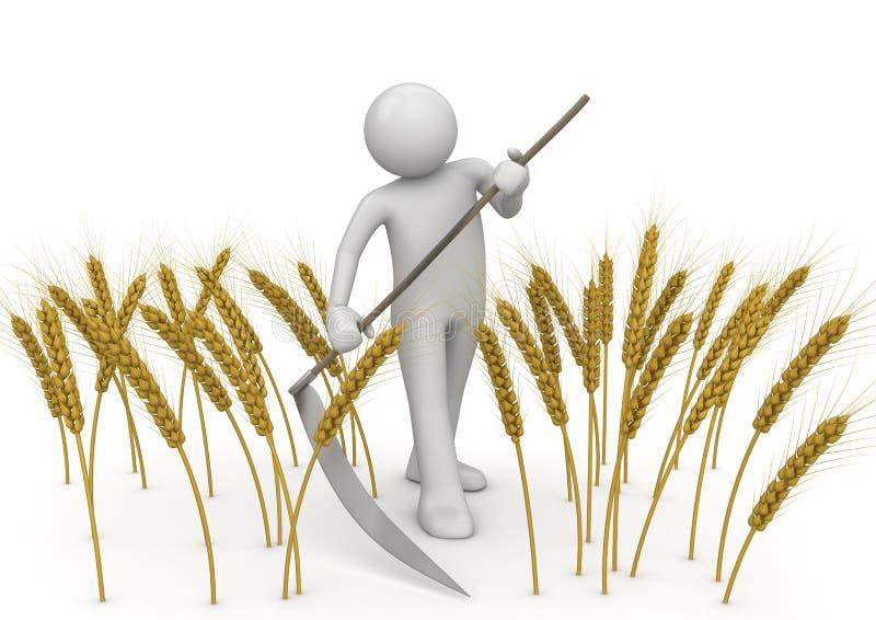 Segadeira - trabalhadores da agricultura ilustração stock