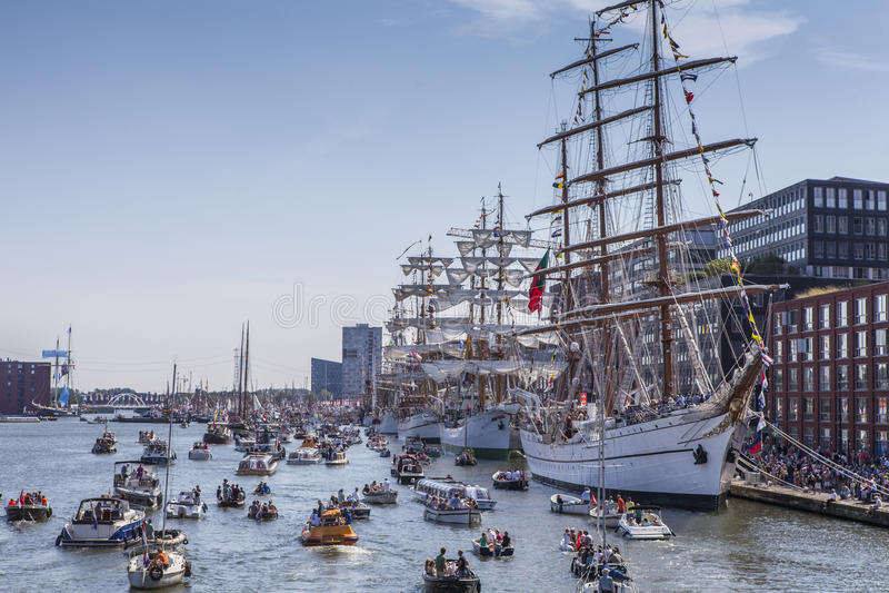 Segel Amsterdam lizenzfreies stockfoto