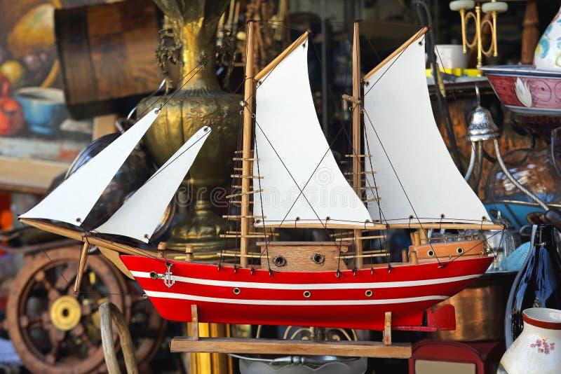 Segel-Schiffs-Modell stockfotografie