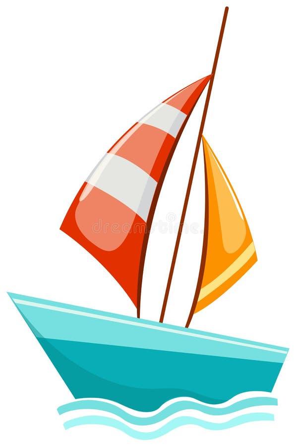 segelbåt stock illustrationer