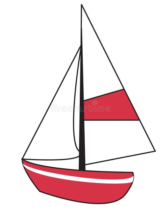 segelbåt vektor illustrationer