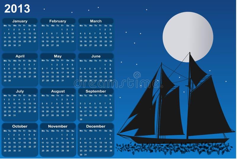 Segelbåt i månsken fotografering för bildbyråer